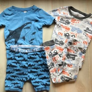 4 Pieces Boys Sleepwear Pajama Set Old Navy 4T